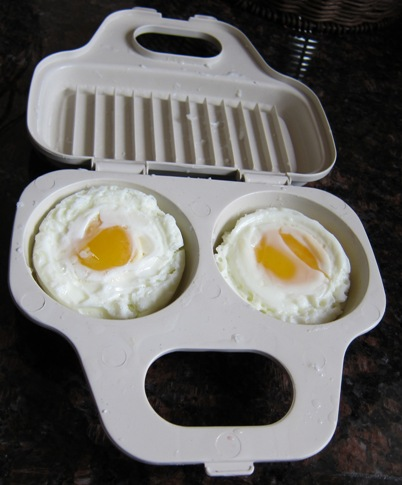 eggs cooked in a microwave