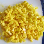 diced mango for mango salsa