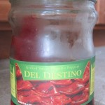 a jar of marinated grilled roasted red peppers from costco