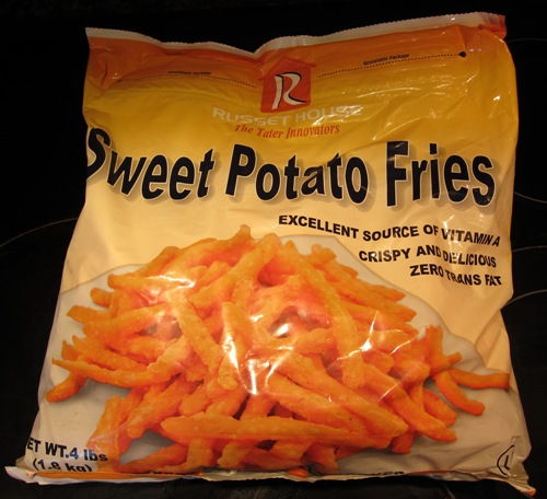 package of sweet potato fries from Costco