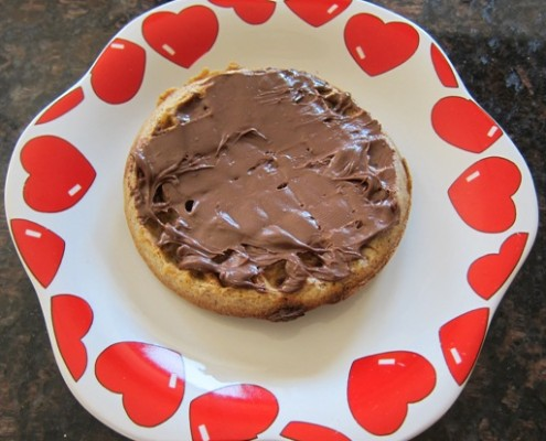waffle spread with nutella