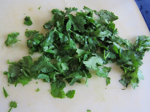 chopped cilantro photo
