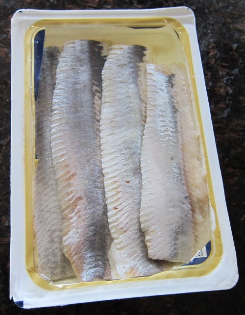 opened package of herring fillets