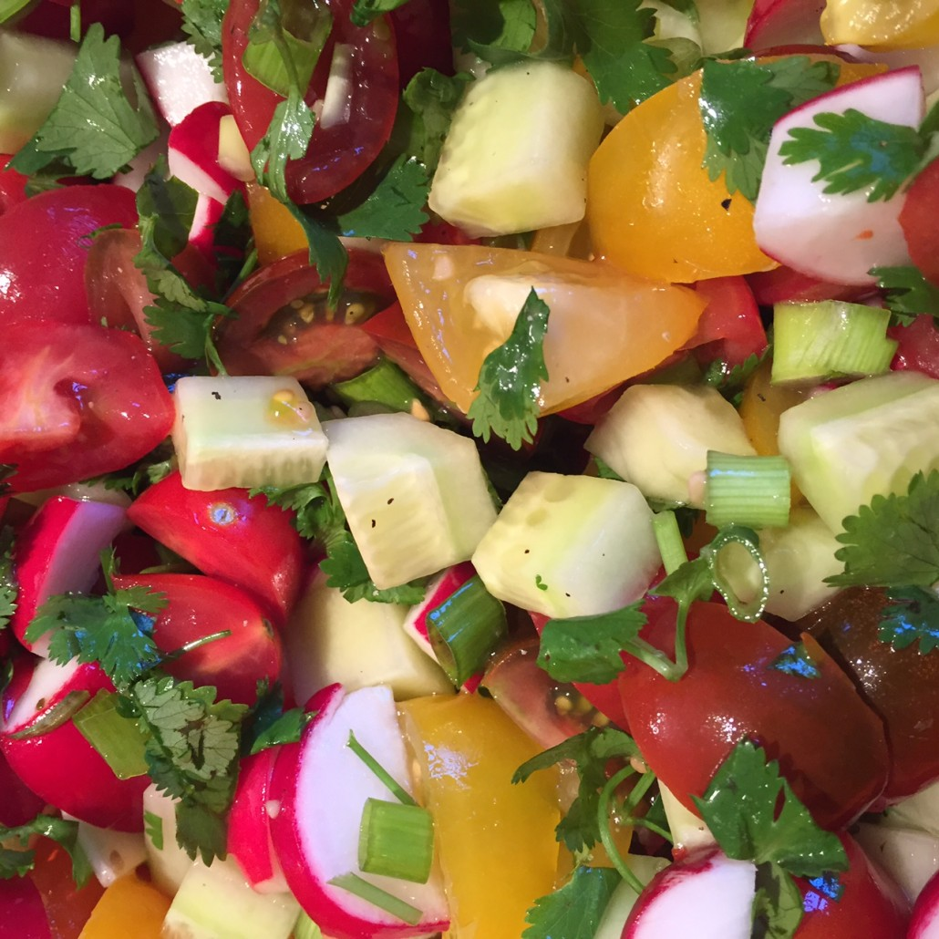 Tomato, Cucumber and Radish Salad - So Crunchy, Tasty and Healthy!