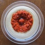 red pepper hummus before mixing