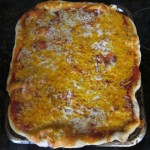 rectangle shaped pizza picture