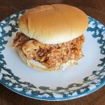 barbeque chicken sandwich from rotisserie leftovers