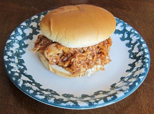 pulled bbq barbeque chicken sandwich