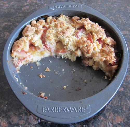 half of plum pie left