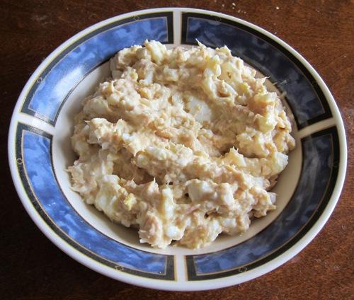 tuna salad in a bowl