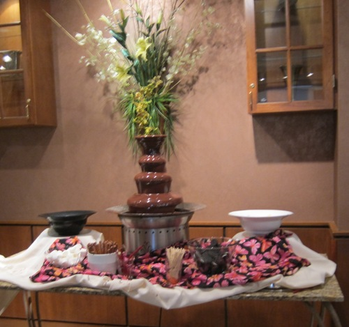 Allgauer's restaurant chocolate fountain
