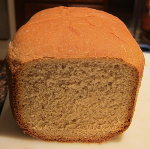 soft white sandwich bread from bread machine