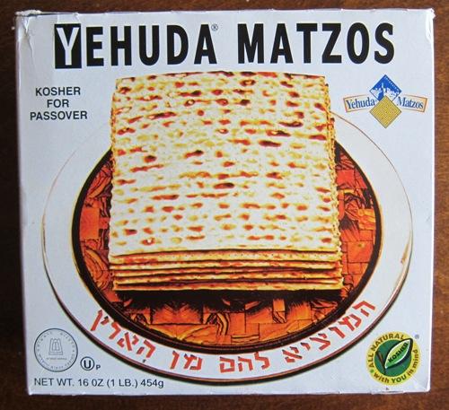 a box of matzo crackers