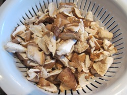 chopped shiitake mushrooms