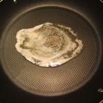 melting butter on a frying pan
