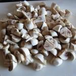 chopped white button mushrooms