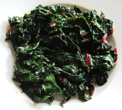 cooked collard greens