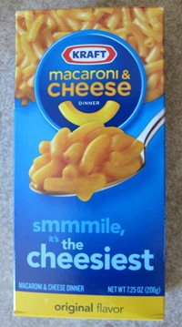 kraft macaroni and cheese dinner in a package