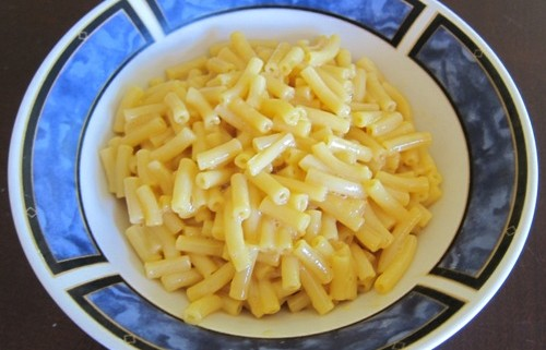 bowl of healthy packaged macaroni and cheese for kids