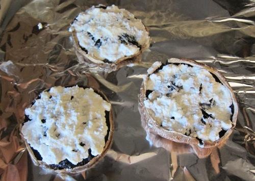 portobello mushroom spread with ricotta cheese