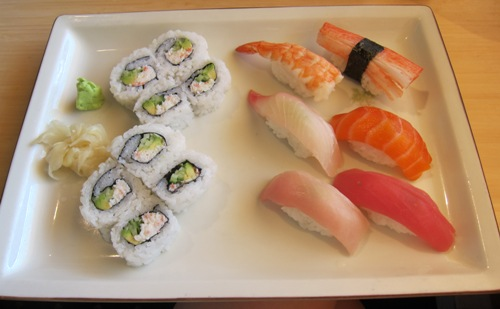lunch sushi combo at Benihana restaurant