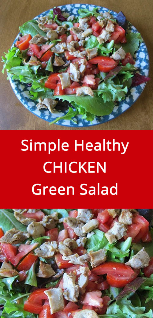 Easy Main Dish Salad With Chicken, Lettuce and Tomatoes   MelanieCooks.com