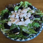 Turkey Blackberry Salad With Parmesan Cheese