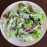 salad with tzatziki sauce dressing