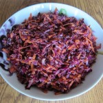 how to make red cabbage slaw