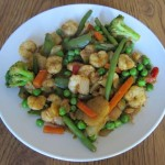 shrimp stir fry with frozen green peas