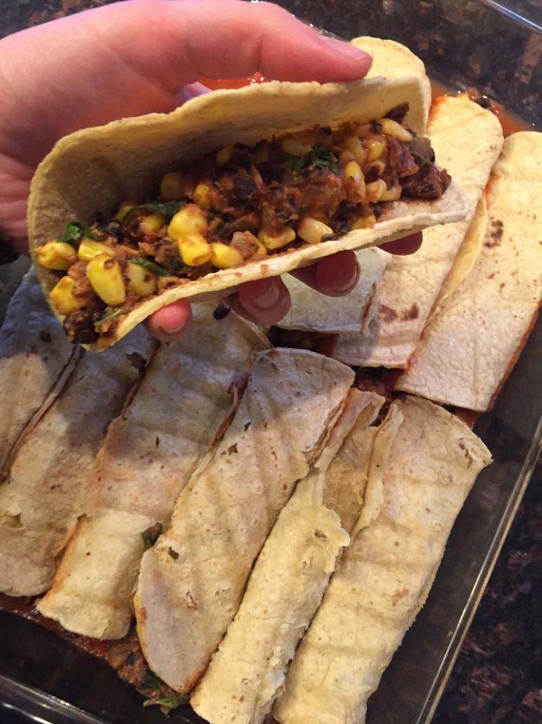 Rolling an enchilada