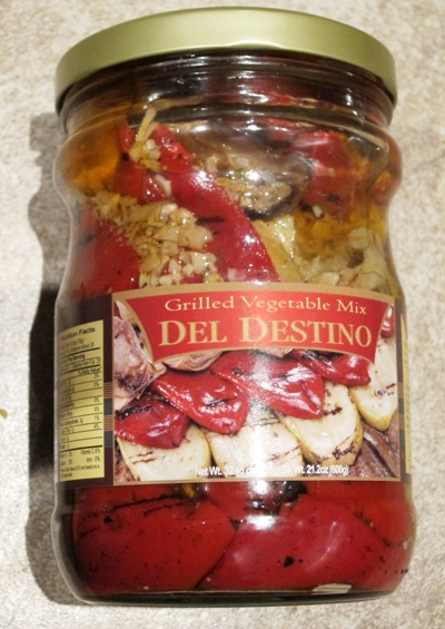 del destino grilled vegetable mix jar