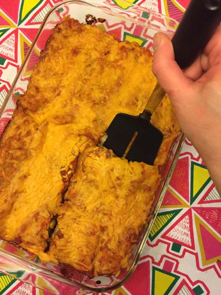 Baked Mexican enchiladas with black beans