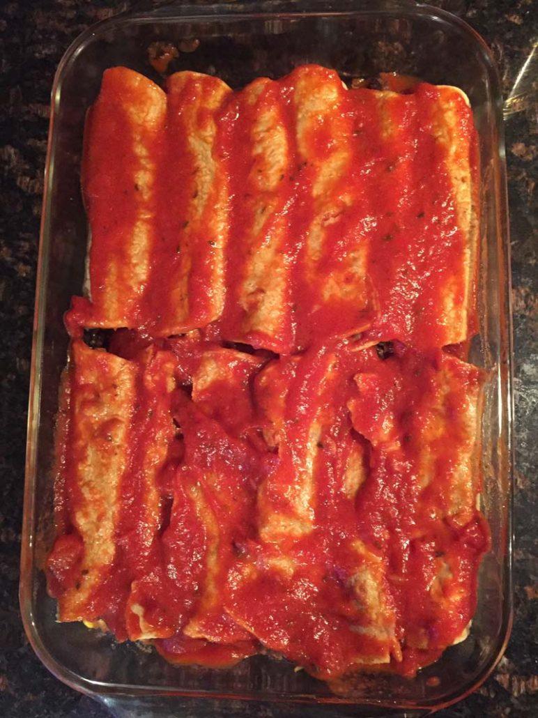 tomato sauce enchiladas