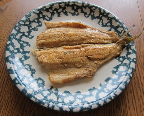 cajun rainbow trout with tail