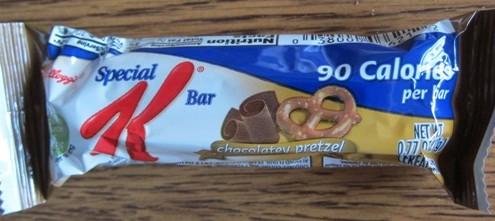 special k chocolatey pretzel bar wrapper