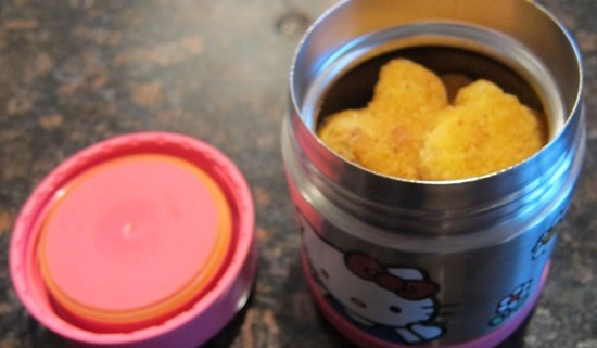 chicken nuggets in a thermos