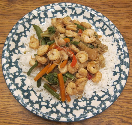 shrimp stir fry with bean sprouts