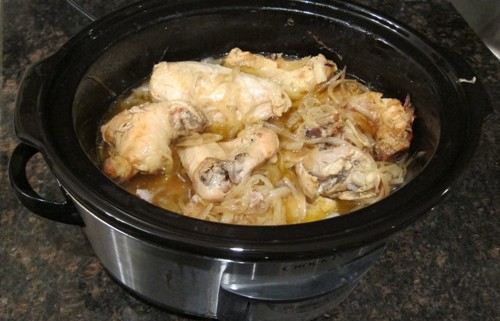 2 Ingredient Slow Cooker Chicken Onion Stew