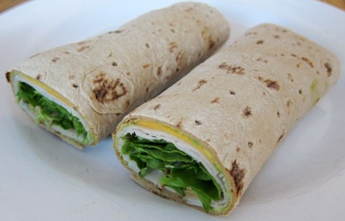 recipe for wraps with turkey cheese guacamole lettuce