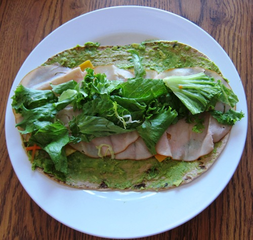 how to make a wrap - lettuce