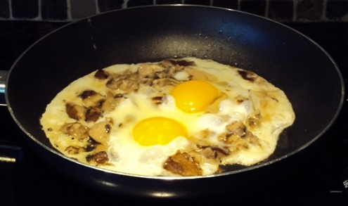 eggs with mushrooms