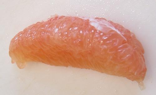 peeled skinless grapefruit