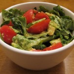 salad recipe with tomatoes avocado lettuce