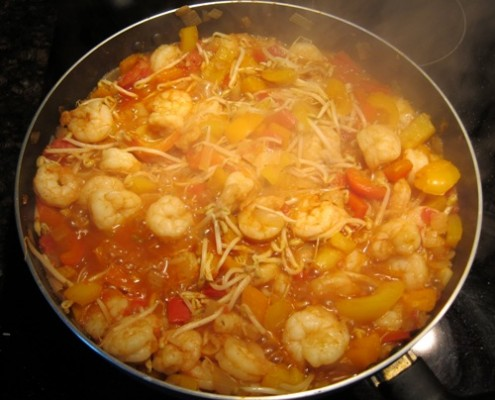 shrimp recipe with tomatoes and peppers