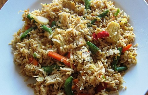 chicken fried rice recipe with frozen vegatables