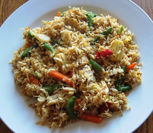 Chicken And Rice Stir Fry Recipe With Frozen Vegetables Melanie Cooks