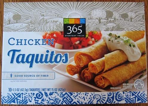 whole foods 365 frozen chicken taquitos
