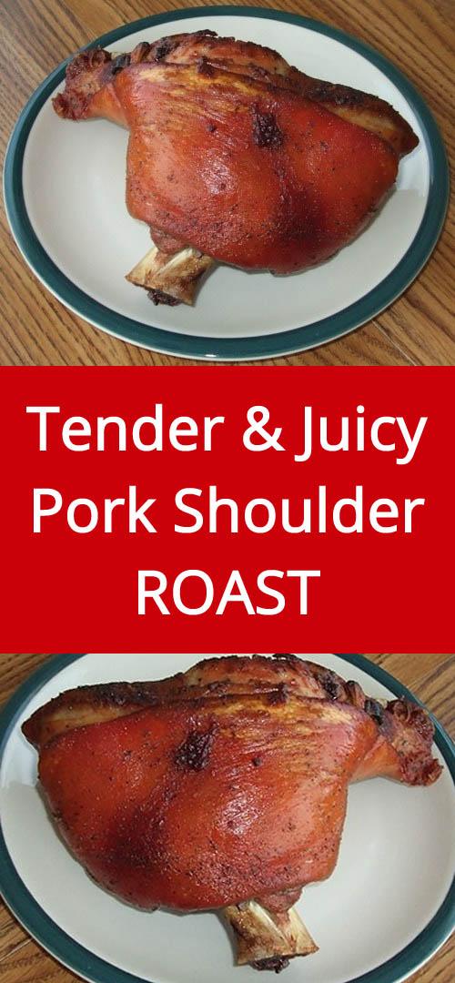 Tender & Juicy Pork Shoulder Roast With Crispy Brown Skin - Mouthwatering! | MelanieCooks.com