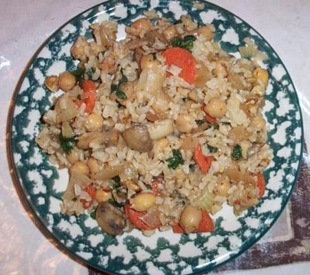 how to make vegan brown rice pilaf